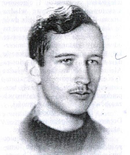 Adam Jakacki jako 19-latek.