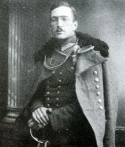 Walerian Meysztowicz jako wachmistrz 13. Pułku Ułanów.