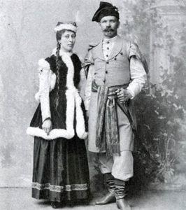 Władysław Łebkowski z żoną
