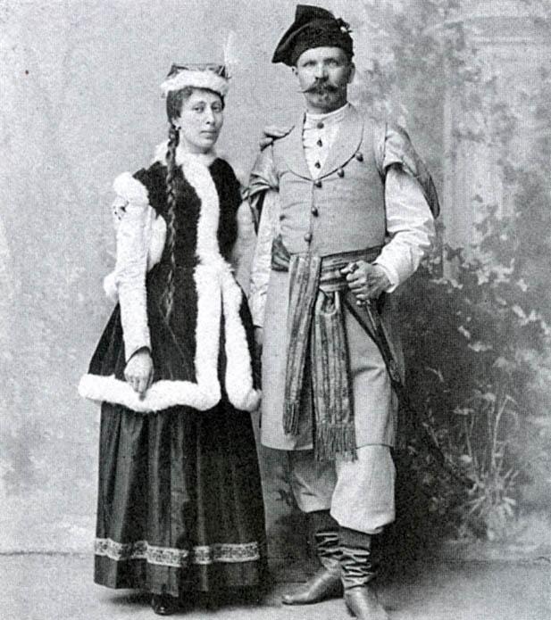 Władysław Łebkowski Z żoną Stefanią Z Woyna Orańskich