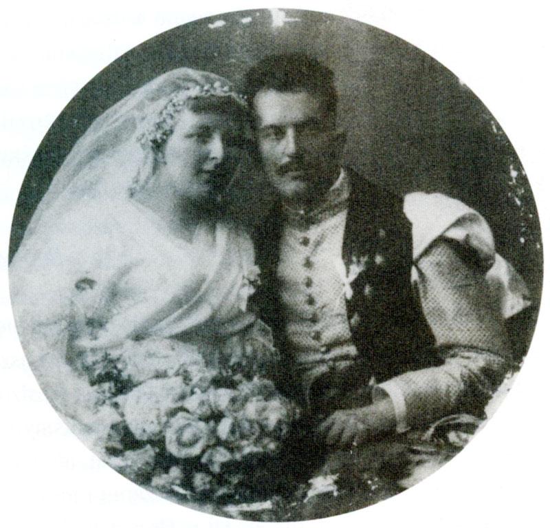 Ślub Beaty Potockiej z Adamem Branickim, Kraków 1921.