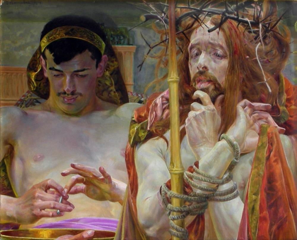 Jacek Malczewski, Chrystus przed Piłatem, 1910.