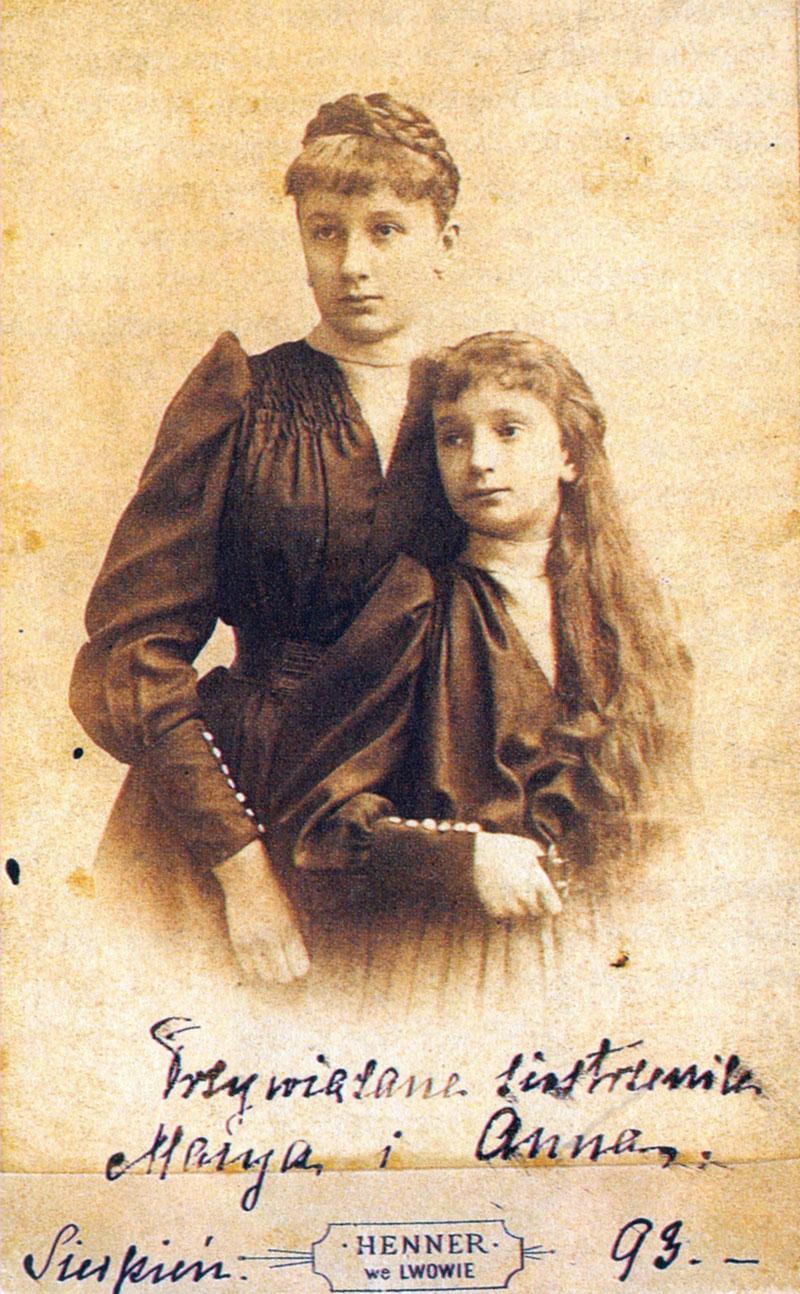 Maria i Anna (późniejsza Januszowa Radziwiłłowa).Lubomirskie, Lwów 1893.