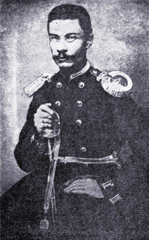 Traugutt w mundurze podpułkownika saperów, 1862.