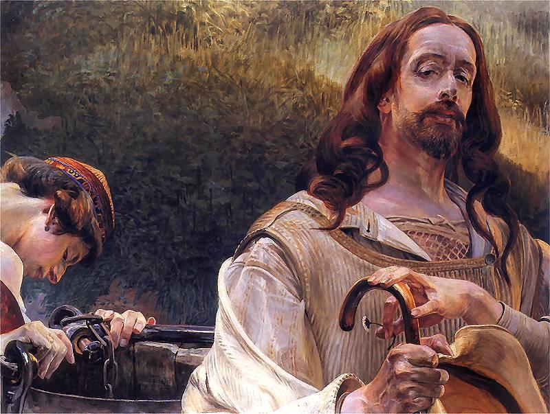 Jacek Malczewski, Chrystus i Samarytanka, 1910.