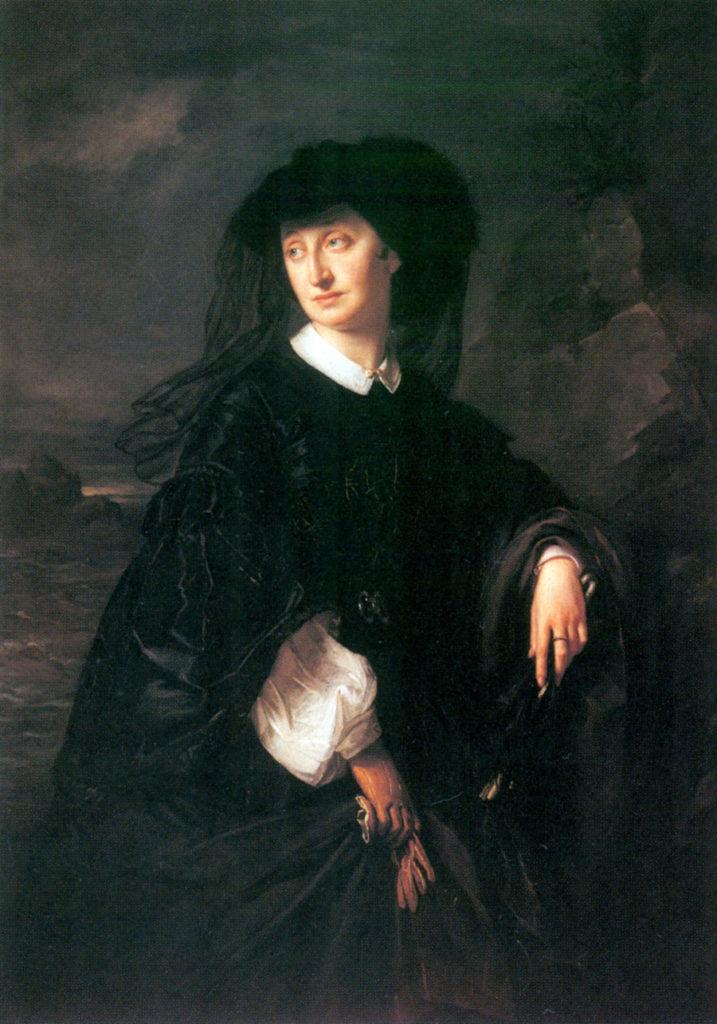 Józef Simmler, Portret Julii Bokg (Bock), 1861.