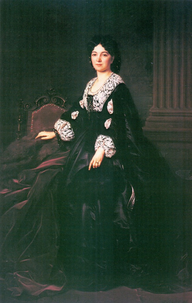 Józef Simmler, Portret Julii Simmlerowej, 1863.