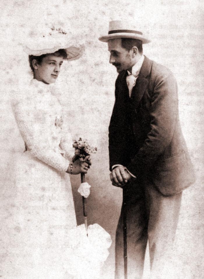 Matylda Windisch-Graetz i Paweł Sapieha (fotografia narzeczeńska)
