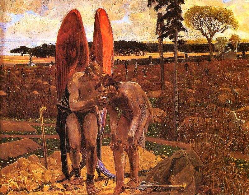 Jacek Malczewski, Za aniołem – tryptyk, 1901