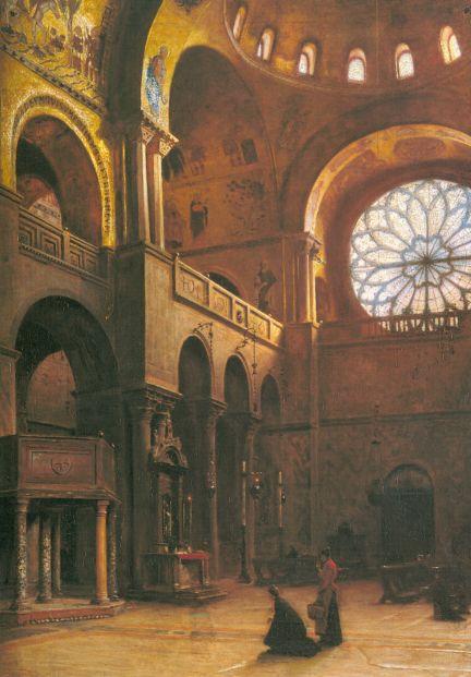 Aleksander Gierymski Wnętrze bazyliki sw Marka w Wenecji