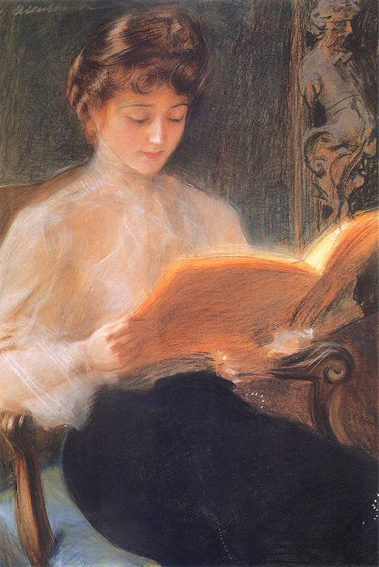 Teodor Axentowicz - Czytająca