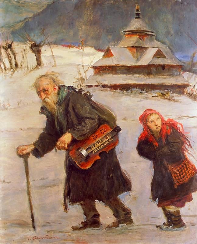 Teodor Axentowicz - Lirnik i dziewczyna