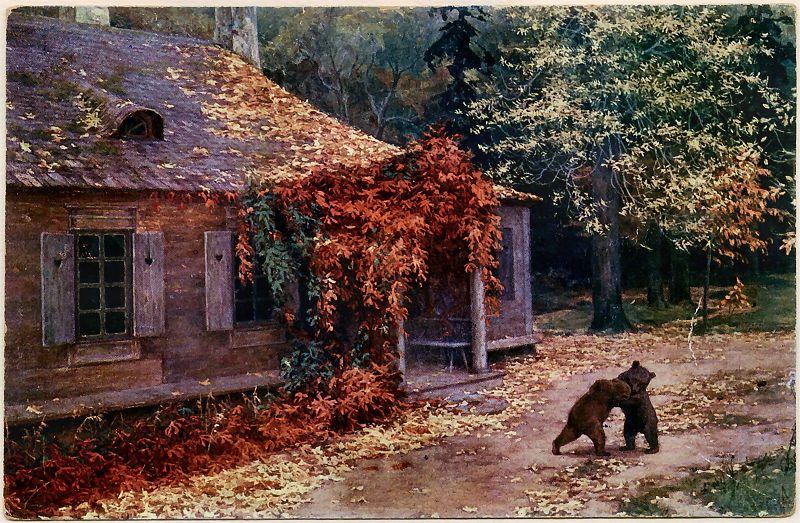 Henryk Weyssenhoff - Litewskie zacisze 1908 (obraz zaginiony)
