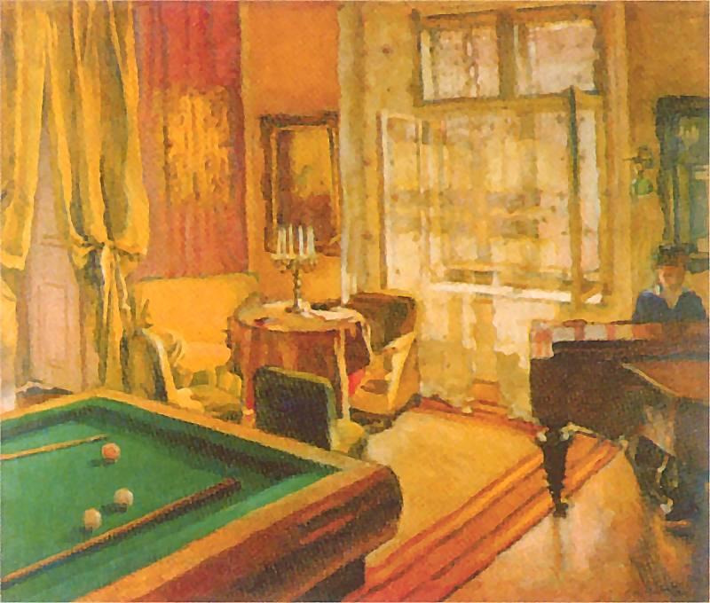 Józef Mehoffer - Pokój bilardowy