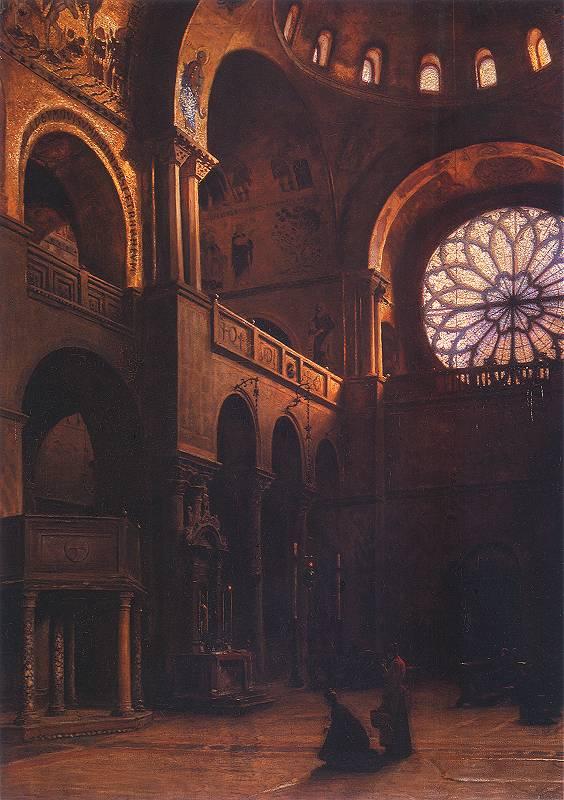 Aleksander Gierymski - Wnętrze bazyliki św. Marka w Wenecji
