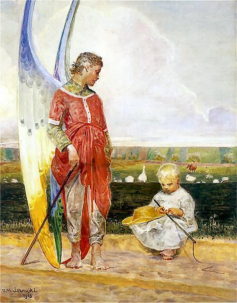 Jacek Malczewski - Anioł i pastuszek