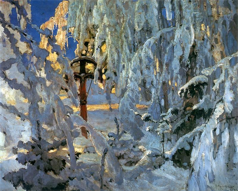 Ferdynand Ruszczyc - Krzyż w śniegu