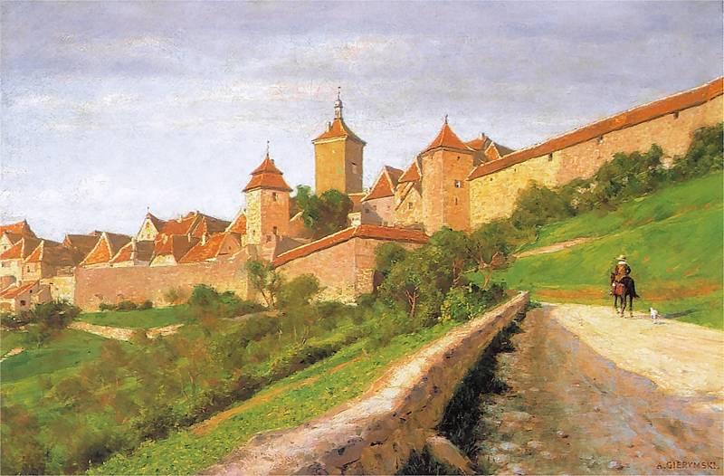 Maksymilian Gierymski - Mury obronne w Rothenburgu