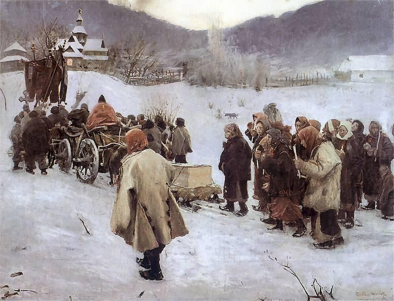 Teodor Axentowicz - Pogrzeb huculski