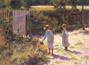 Władysław Podkowiński - Dzieci w ogrodzie