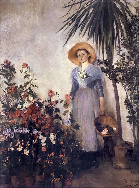 Olga Boznańska - W oranżerii