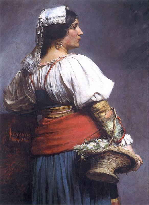 Teodor Axentowicz - Włoska kwiaciarka