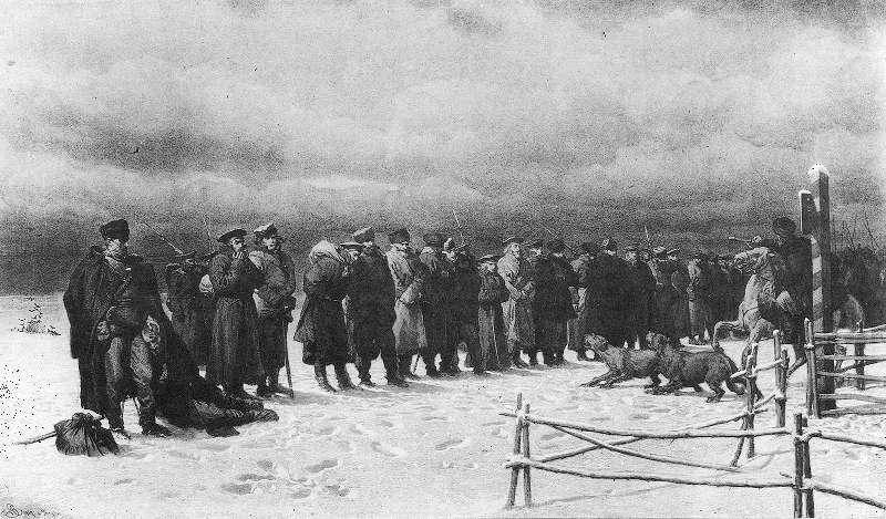 Artur Grottger - Pochód na Sybir