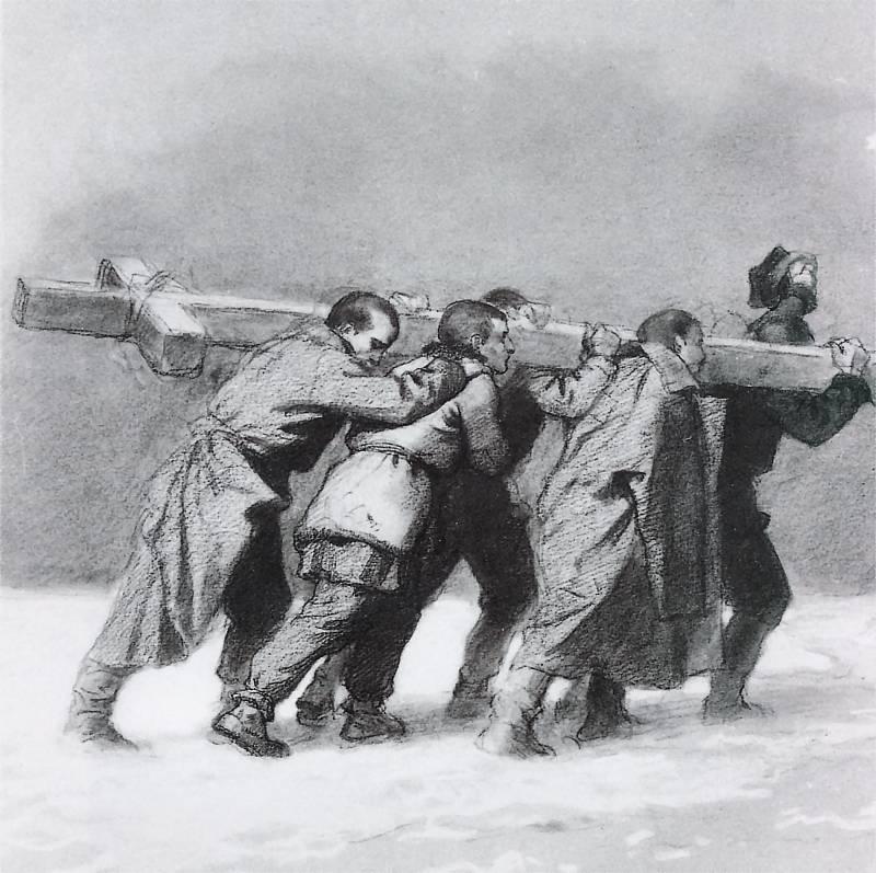 Artur Grottger - Z krzyżem