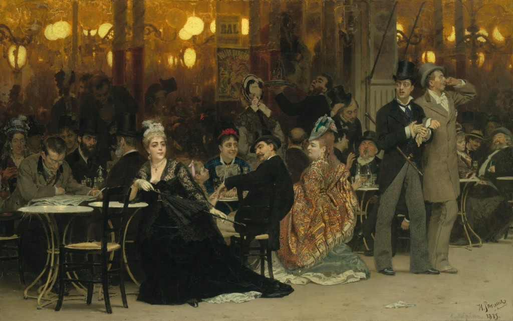 I. Repin - Kawiarnia Paryska 1875
