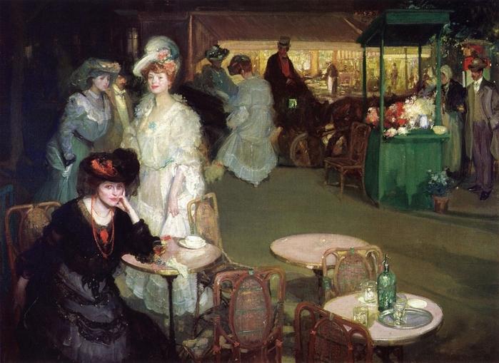 Richard E. Miller - Scena w kawiarni