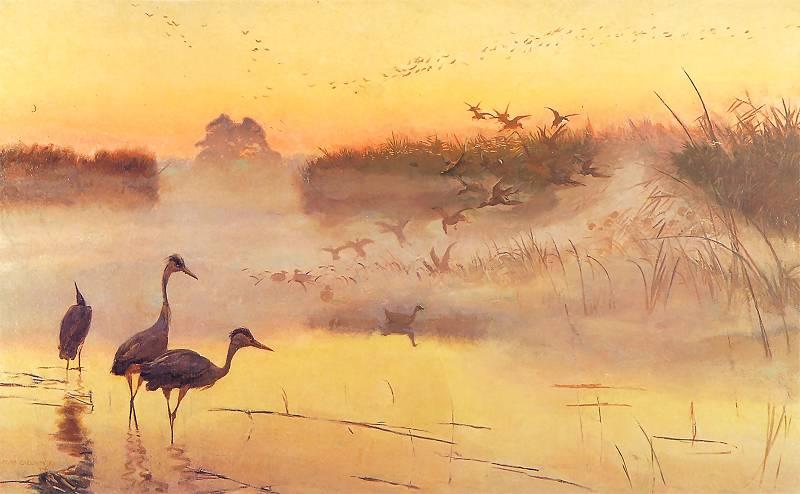 Józef Chelmoński - Królestwo ptaków