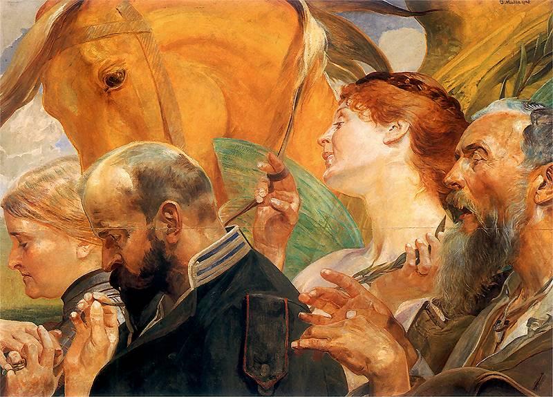 Jacek Malczewski - Sztuka, część tryptyku
