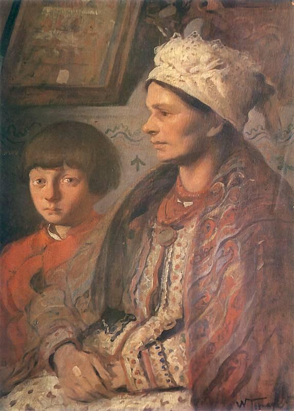 Włodzimierz Tetmajer - Żona z synem