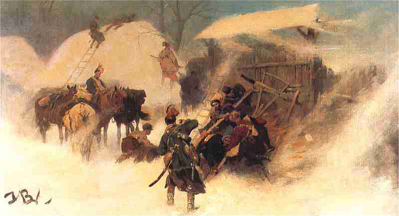 Józef Brandt - Konfederacji barscy (Obrona zaścianka)