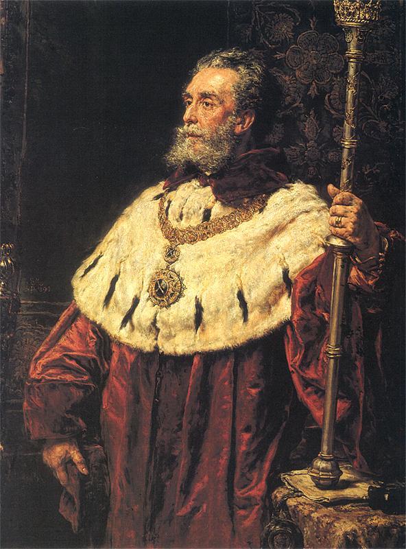 Jan Matejko - Prof. Stanisław Tarnowski, rektor UJ (wybitny historyk i pisarz)