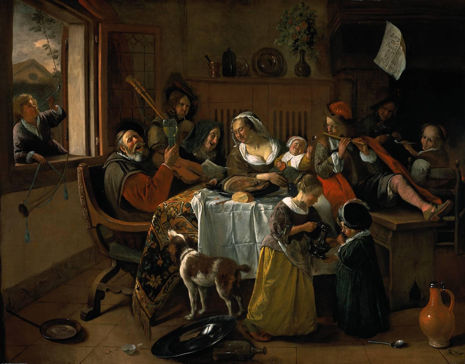 Jan Steen - Wesoła rodzina