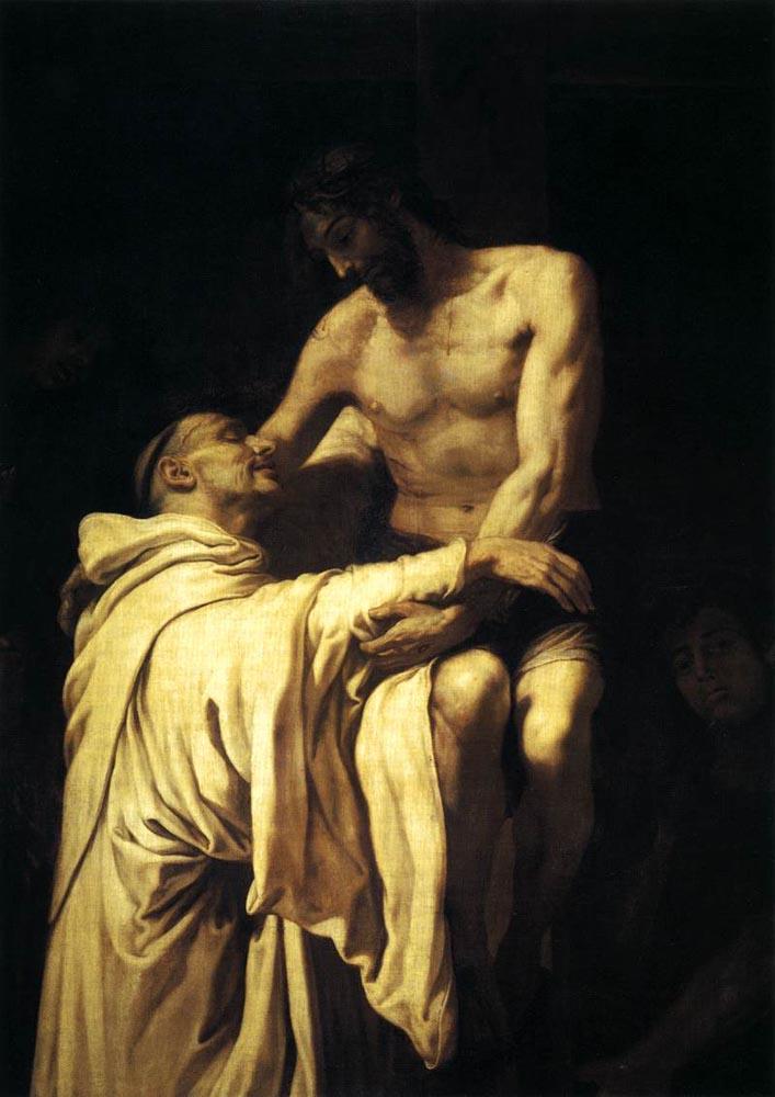 Francisco Ribalta - Chrystus obejmujący Św. Bernarda