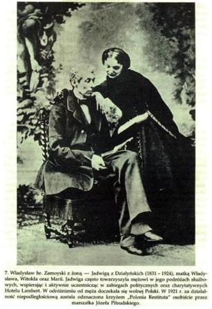 Jadwiga Zamoyska z mężem gen. Władysławem Zamoyskim