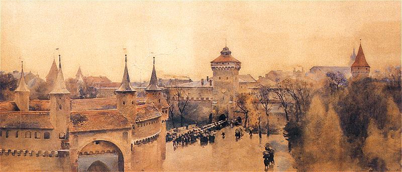 Julian Fałat - Widok Krakowa