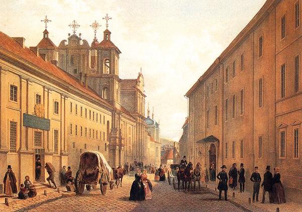 Zygmunt Vogel - Ulica Dominikańska w Wilnie