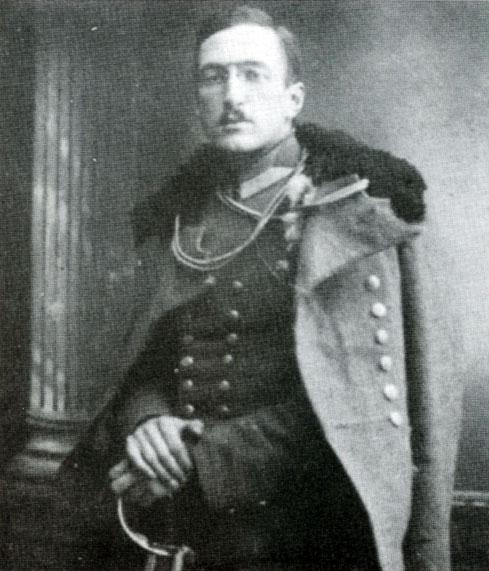 Walerian Meysztowicz jako wachmistrz 13 Pułku Ułanów