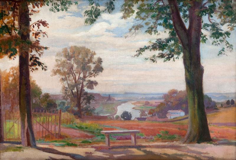 Ignacy Pieńkowski - Pejzaż z drzewami