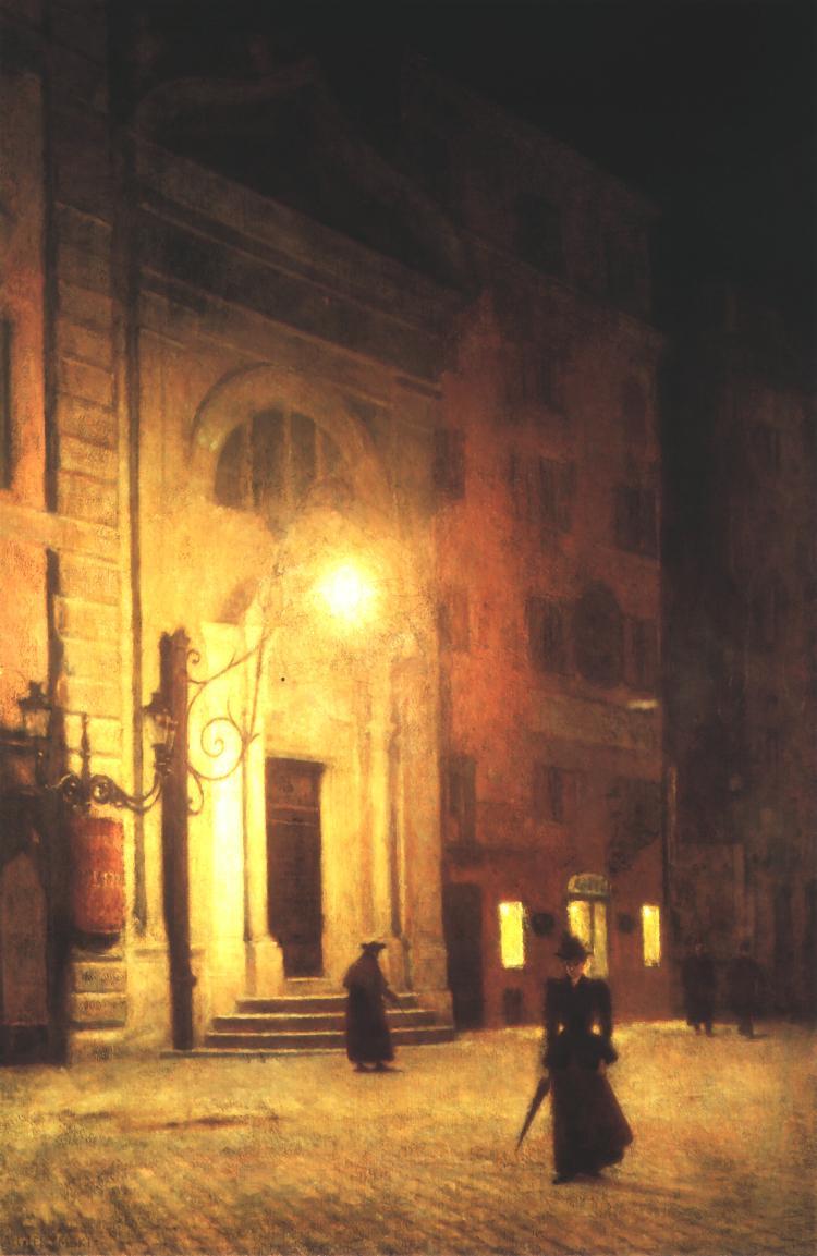 Aleksander Gierymski - Ulica w Rzymie