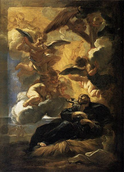 Wizja św. Franciszka Ksawerego (w chwili śmierci) - Giovanni Batista Gaulli