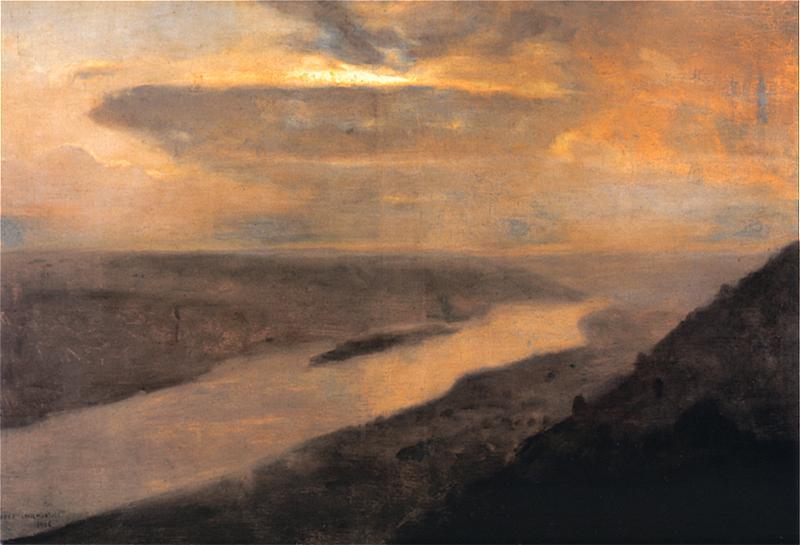 Józef Chełmoński - Dniestr w nocy
