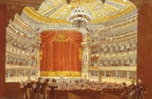 J. C. Richter - Wnętrze teatru w Dreźnie