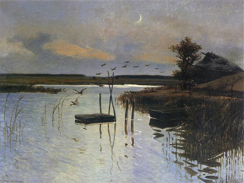 Józef Chełmoński - Kaczki nad wodą