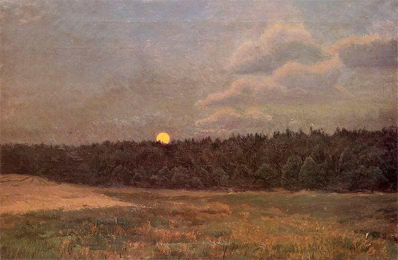 Józef Chełmoński - Wschód księżyca