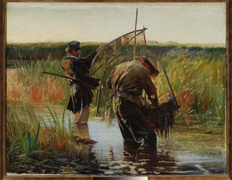Leon Wyczółkowski - Rybacy naprawiający sieci