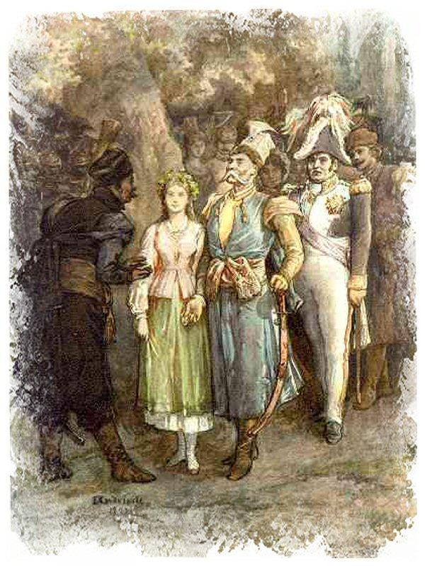 """Elwiro Michał Andriolli - Polonez (ilustracja do """"Pana Tadeusza"""")"""